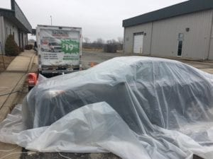 Fumigating car for Bed Bugs KC